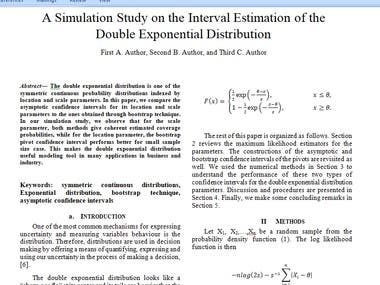 Simulation Study Research Paper