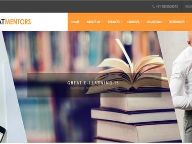 Developed a E- learning Site& Learning Management System