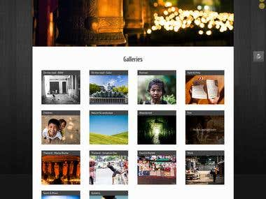 Personnal photography website