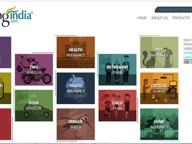 Created a Multilingual website for Insurance.