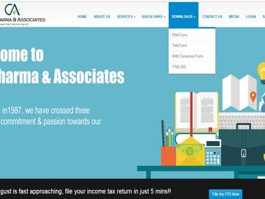Created a software and website for Chartered Accountants