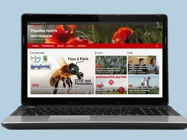 Ukraine against pesticides Website