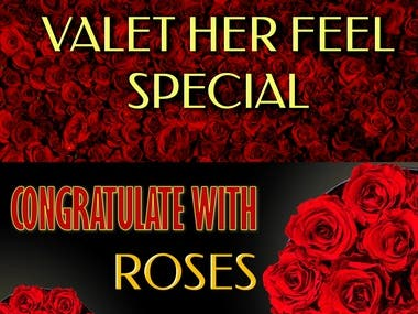 Set banners for flowers internet shop