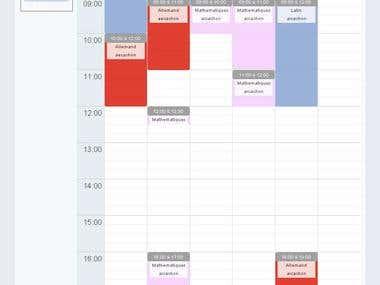 Time managing module