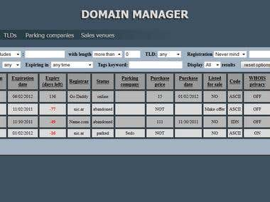 Domain manager