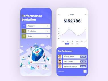 Performance Evolution Mobile App design