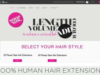 Hair Extension WordPress Website