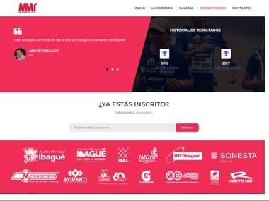 Website for a marathon