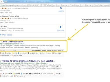 Get first page ranking via white hat SEO
