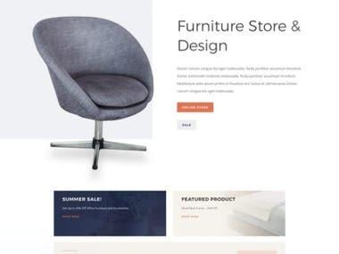Furniture Store Home Page Design