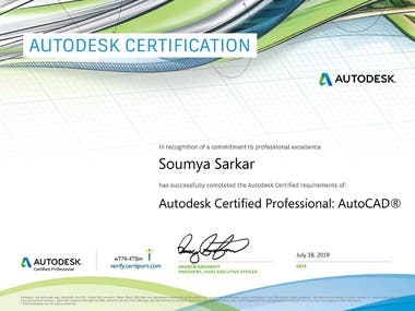 AUTOCAD PROFESSIONAL CERTIFICATE FROM AUTODESK