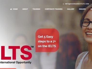 Training Institute Website Design