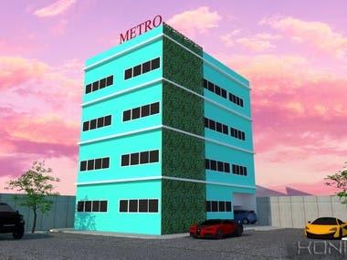 Exterior & interior design, Metro apartment
