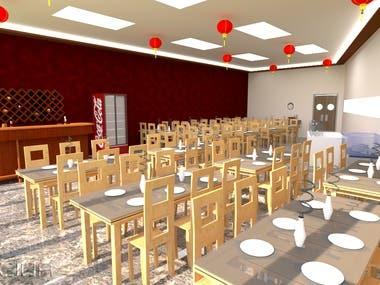Interior design for lecidere hotel restaurant