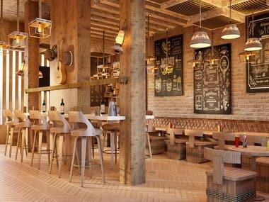 Wild west restaurant and bar