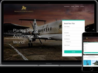 Website for Travel(html+php+css+wordpress)