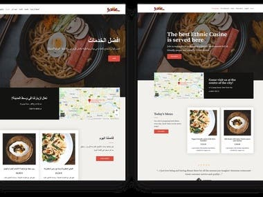 Restaurant website(html+php+css+wordpress+2language)