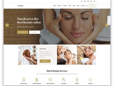 Hair And Beauty business website