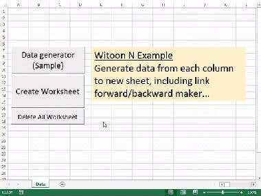 Excel Data Manipulation (Create worksheet from data)