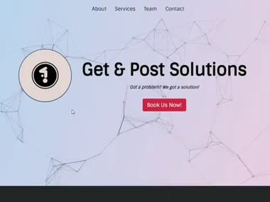 React.js Website Landing Page