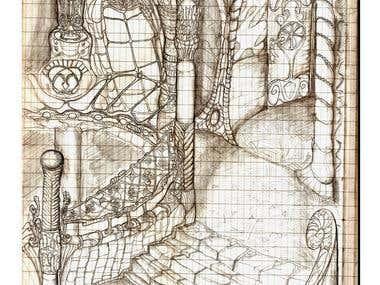 Furniture, interior and garden elements