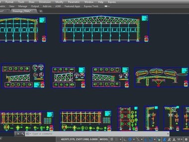 Steel structural Design drawings (AutoCAD)