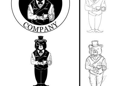 british bear logo design