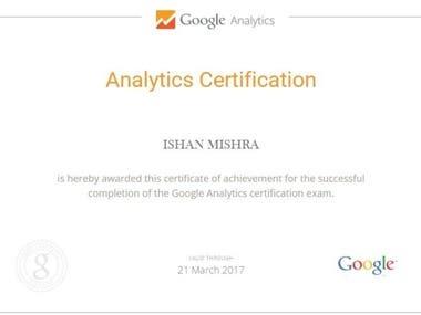Google Analytics Certificte