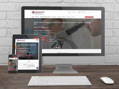 Website for Magnus Medical Billing