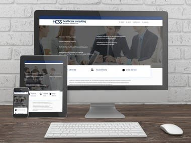 Website for Heathcare Consulting