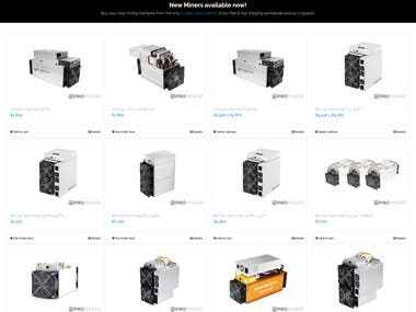 Mining equipment website.