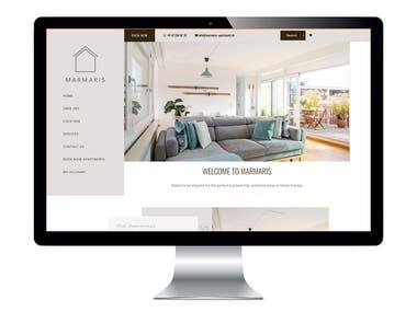 Apartment booking website
