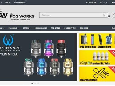 E-Cigarette Website Portal