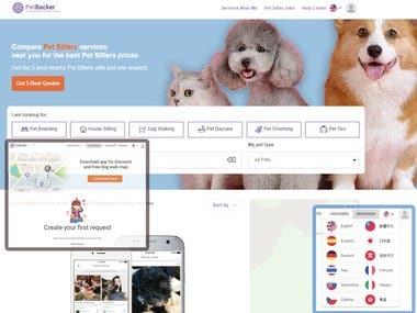 Petbacker Web Application