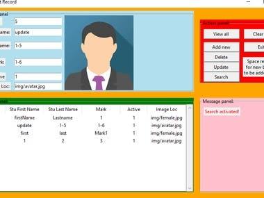 Python, SqlLite: Person Management