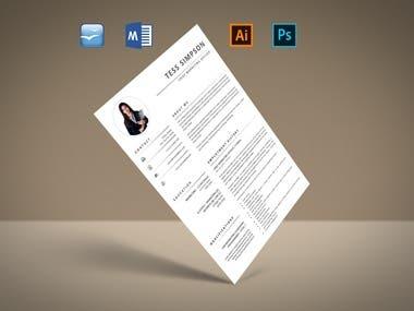 Resume or CV design