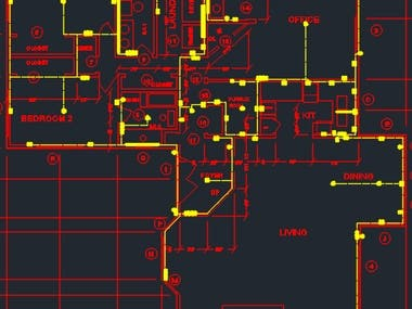 Floor Plan in AutoCad