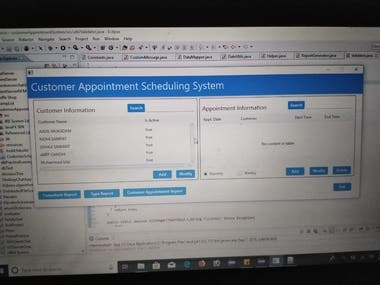 Customer Appointment Scheduling System