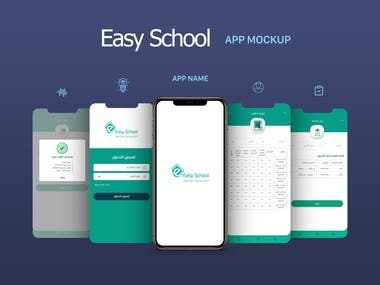 UI/UX Design for Easy School Application