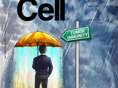 Illustration Cover for Cancer Cell (Scientific Journal)