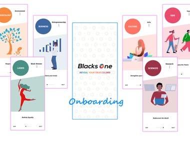 Black One Social Mobile Application