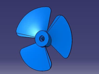 Fan design in catia
