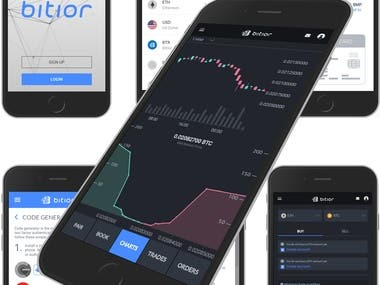 Cryptocurrency exchange app