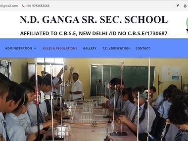 School Website with parent, teacher and student portal