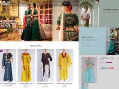 Cinnamon Dreams - E-commerce website