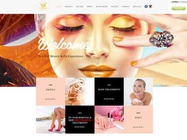 WAXWORKS BEAUTY & SPA PORTFOLIO WEBSITE W/ CORE PHP