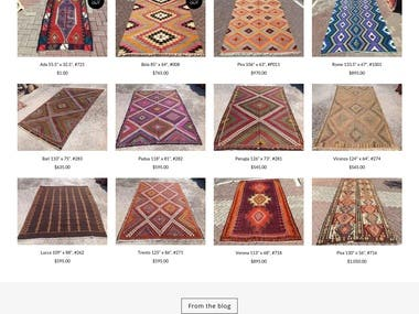 Kilim Rug Store E-commerce site (rug store) written from scr