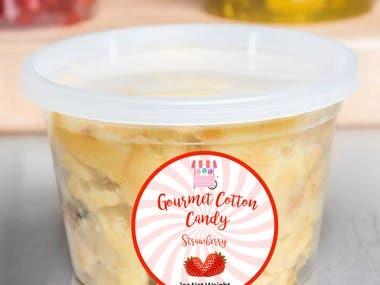 gourmet Cotton Candy label designs