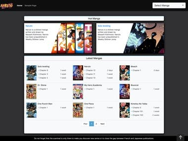 Manga Website Develop (WordPress Theme)