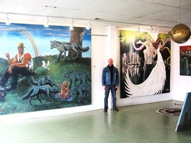 Large Oil Paintings and Murals